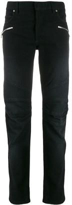 Balmain Logo Slim-Fit Jeans