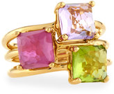 Ippolita Rock Candy 18k Amethyst, Peridot & Composite Ruby Cluster Ring, Size 7