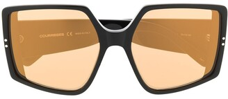 Courreges Oversized Square Sunglasses