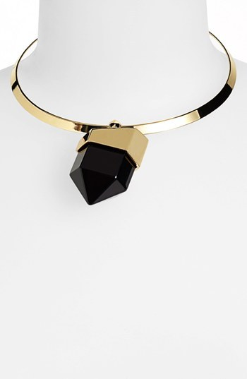 Vince Camuto 'Tour of Duty' Stone Pendant Collar Necklace
