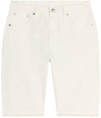 Arket SLIM Overdyed Denim Shorts
