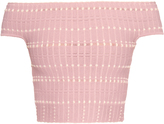 Alexander McQueen Off-the-shoulder knitted crop top