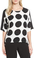 Vince Camuto Polka Dot High/Low Blouse (Regular & Petite)