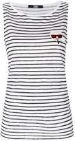 Karl Lagerfeld Love striped linen tank