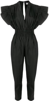 IRO Ruffle-Sleeve Jumpsuit