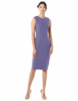Donna Morgan Women's Sleeveless Stretch Crepe Sheath Midi Dress
