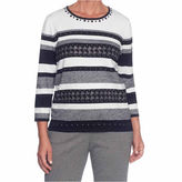 Alfred Dunner Talk Of The Town Ombre Stripe Sweaters