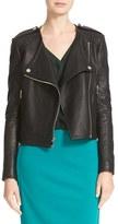 Diane von Furstenberg Women's Tadessa Leather Jacket