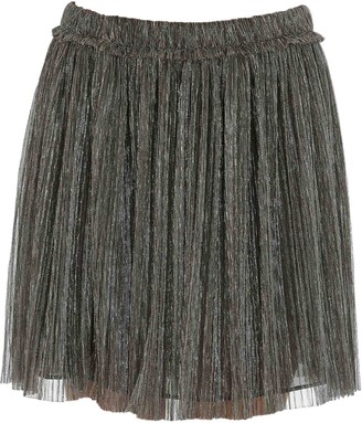 Etoile Isabel Marant Metallic Pleated Mini Skirt