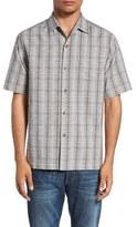 Tommy Bahama Men's 'Rum Sizzle' Plaid Silk & Cotton Camp Shirt