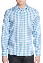 Report Collection Regular-Fit Check Linen Sportshirt