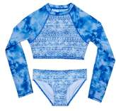 Gossip Girl Girl's Jeans Addiction Two-Piece Rashguard Swimsuit