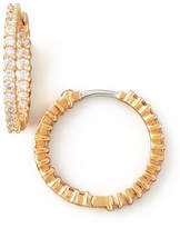 Roberto Coin 22mm Rose Gold Diamond Hoop Earrings, 1ct