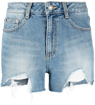 Sjyp Distressed Denim Shorts