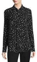 Donna Karan Confetti-Print Silk Shirt