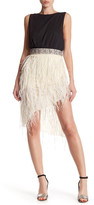 Haute Hippie Asymmetrical Embellished Feather Skirt