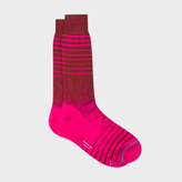 Paul Smith Men's Damson And Pink Graduated Stripe Socks