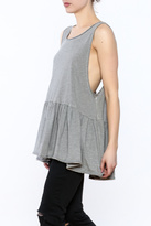Free People Grey Sleeveless Tunic Top