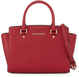 MICHAEL Michael Kors Selma Medium Top-Zip Satchel Bag, Cherry