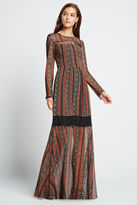 BCBGeneration Vintage Striped Maxi Dress - Auburn