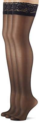 Pretty Polly Women's 10D Gloss Hold Ups Tights, 10 DEN,(Size:OS) (pack of 3)