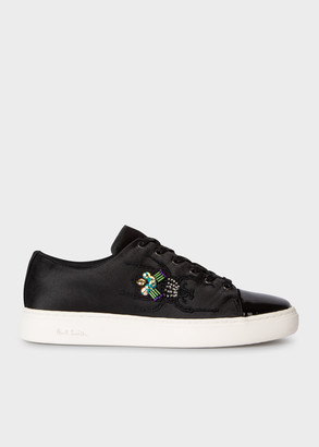 Paul Smith Women's Black Satin Beetle 'Lee' Sneakers