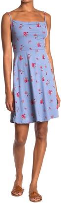 GOOD LUCK GEM Floral Print Spaghetti Strap Dress
