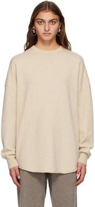 Extreme Cashmere Beige Cashmere Crew Hop Sweater