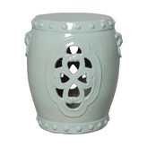 The Well Appointed House Clover Ceramic Garden Stool in Celadon-ON BACKORDER UNTIL AUGUST 2016
