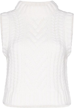 Cecilie Bahnsen Madelyn quilted knitted top