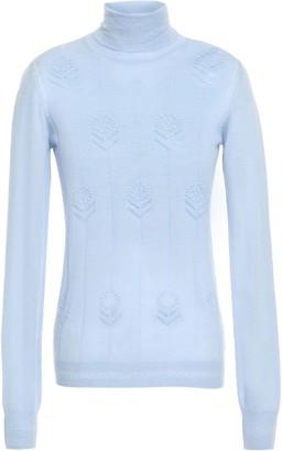 Adam Lippes Pointelle-knit Cashmere Turtleneck Sweater