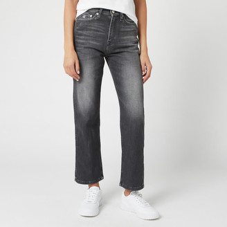Calvin Klein Jeans Women's High Rise Straight Ankle Jeans