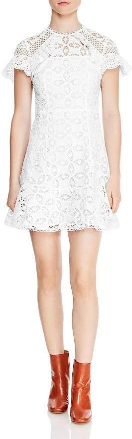 Sandro Corentin Cotton Lace Mini Dress