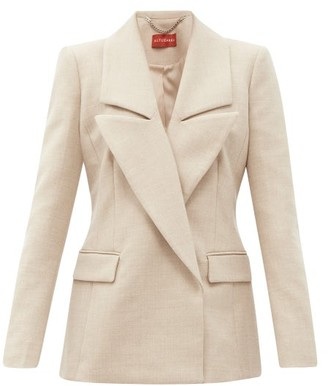 Altuzarra Eileen Double-breasted Wool-blend Jacket - Beige