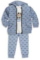 Petit Lem Baby's Three-Piece Hoodie, T-Shirt & Pants Set