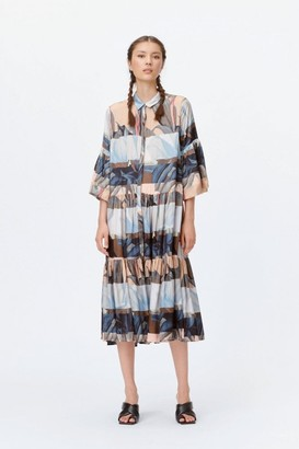 MUNTHE Lately Nature Silk Print Dress - 8