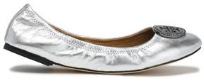 Tory Burch Embellished Metallic Leather Ballet Flats