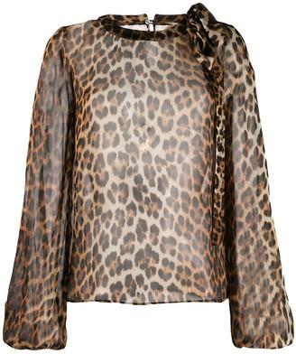 No.21 animal print blouse