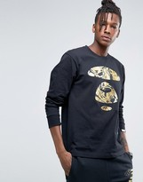 AAPE BY A BATHING APE AAPE By A Bathing Ape Long Sleeve T-Shirt With Large Foil Logo