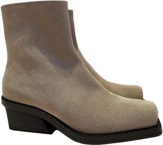 Proenza Schouler Beige Suede Ankle boots