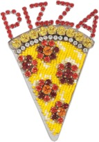 Shourouk Emojibling Pizza brooch