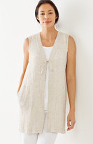 J. Jill Pure Jill Crinkled-Linen Vest
