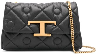 Tod's T-plaque matelasse crossbody bag