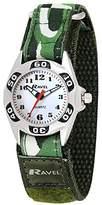 Ravel Children's Green Camouflage Strap Watch