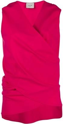 Alysi wrap sleeveless top