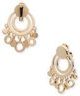 Anne Klein Shaky Open Circle Clip-On Drop Earrings