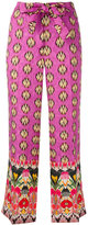 Etro multi-prints belted trousers - women - Silk/Viscose - 38