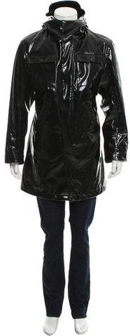 Calvin Klein Collection Hooded Zip-Front Parka