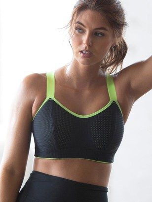 Pour Moi? Pour Moi Energy Underwired Lightly Padded Sports Bra - Black Lime