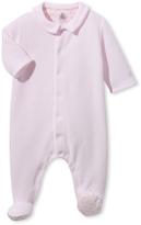 Petit Bateau Babys milleraies striped velours pajamas